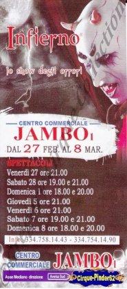 Flyer du Circo Degli Orrori-2015 (n°975)