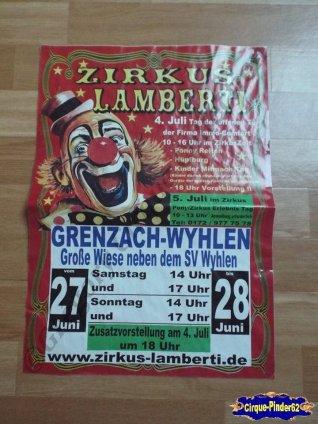 Affiche magasin du Zirkus Lamberti-2015 (n°515)