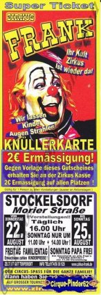 Flyer du Zirkus Frank (n°1038)