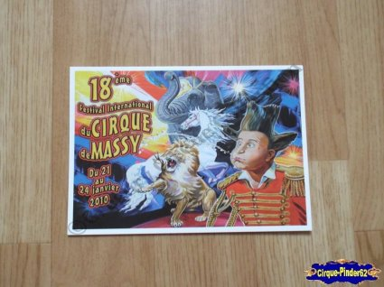 Carte du Festival International du Cirque de Massy-2010