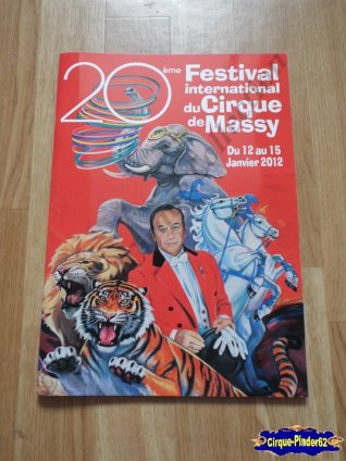Programme du Festival International du Cirque de Massy-2012 (n°101)