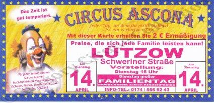Flyer du Circus Ascona (n°1035)