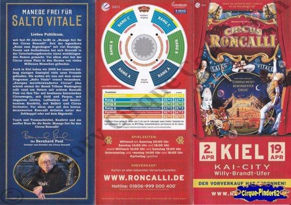 Flyer du Cirque Roncalli (Circus Roncalli)-2015 (n°1060)