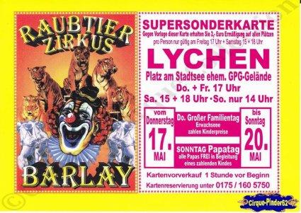 Flyer du Circus Barlay (n°1040)