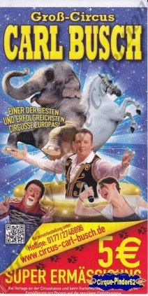 Flyer du Cirque Busch (Carl)-2013 (n°1050)