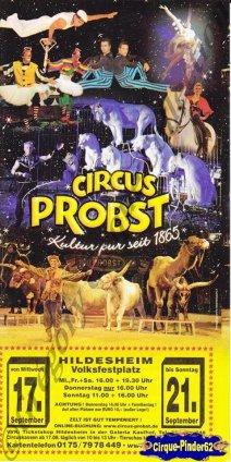 Flyer du Cirque Prosbt (Circus Probst)-2014 (n°1046)