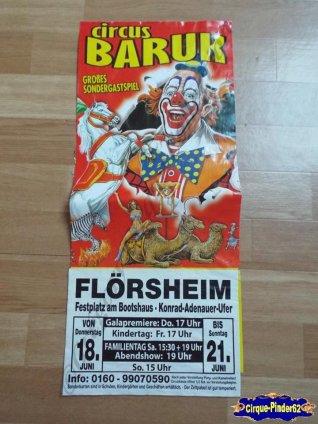 Affiche magasin du Circus Baruk-2015 (n°516)