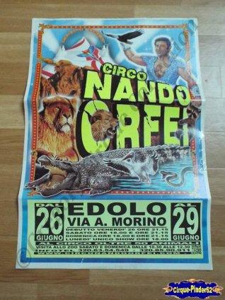 Affiche magasin du Cirque Orfei (Nando)-2015 (n°509)