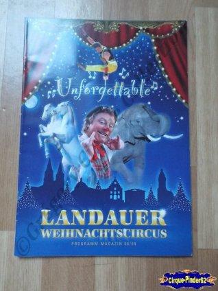 Programme du Cirque de Noël (Landauer Weihnachtscircus)-2008/2009 (n°95)