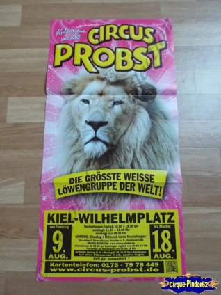 Affiche magasin du Cirque Probst (Circus Probst)-2014 (n°505)