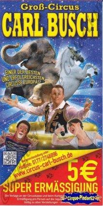 Flyer du Cirque Busch (Carl)-2013 (n°1052)