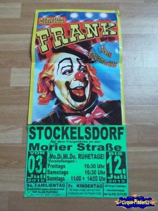 Affiche magasin du Zirkus Frank-2015 (n°528)