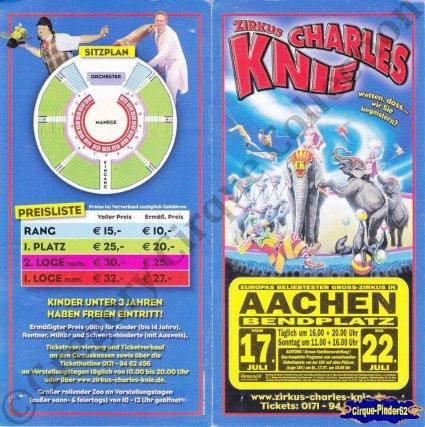 Flyer du Cirque Knie (Charles)-2012 (n°1055)