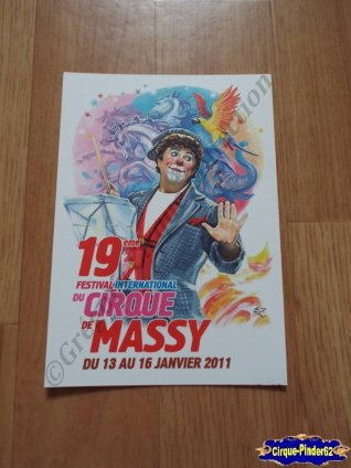 Carte du Festival International du Cirque de Massy-2011