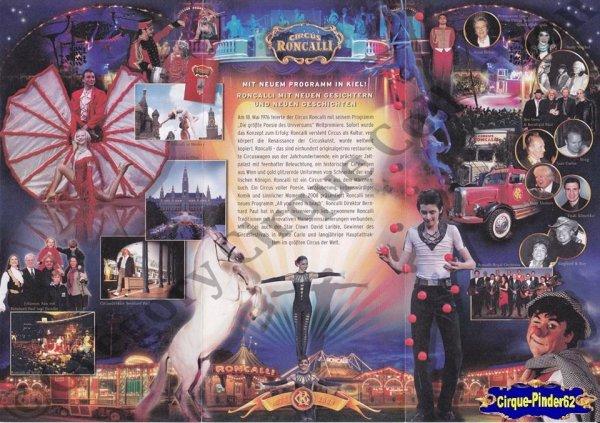 Flyer du Cirque Roncalli (Circus Roncalli)-2008 (n°1061)
