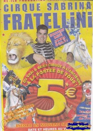 Flyer du Cirque Fratellini (Sabrina)-2015 (n°1067)