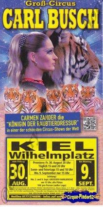 Flyer du Cirque Busch (Carl)-2013 (n°1051)