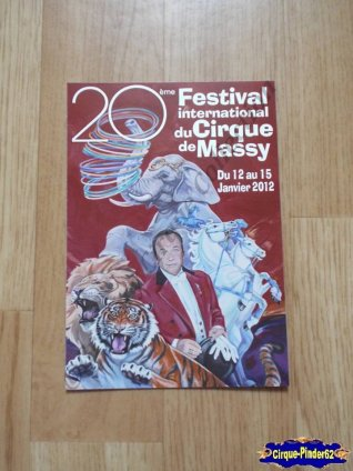 Carte du Festival International du Cirque de Massy-2012