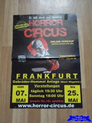Affiche magasin du Horror Circus-2014 (n°641)