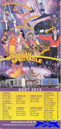 Flyer du Cirque Gervais-2015 (n°1077)