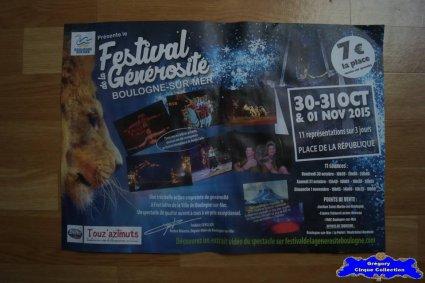 Publicité du Festival de la Générosité de Boulogne sur Mer-2015