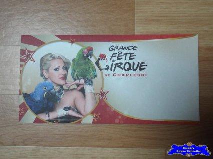 Enveloppe de la Grande Fête du Cirque de Charleroi-2015