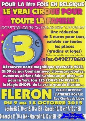 Flyer du Cirque Franco Belge-2015 (n°1194)