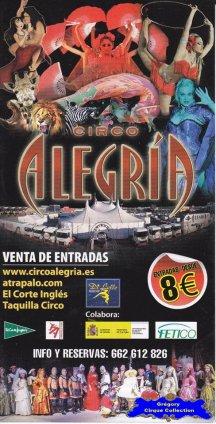 Flyer du Circo Alegria-2012 (n°1149)