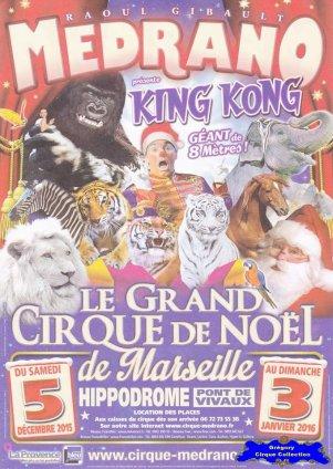 Feuille a4 du Cirque Médrano-2015/2016