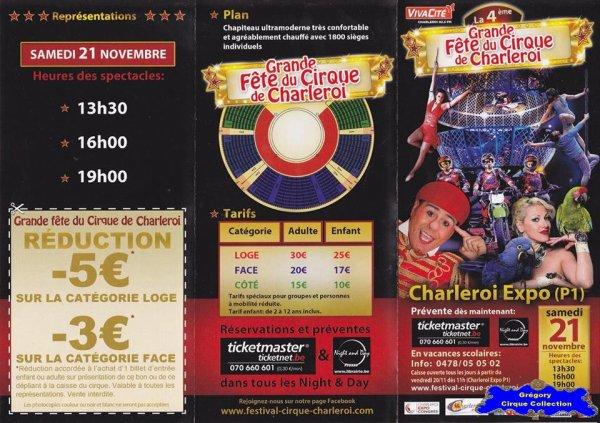 Flyer de La Grande Fête du Cirque de Charleroi-2015 (n°1179)