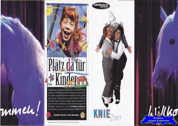 Flyer du Cirque Knie (Cirque National Suisse)-2001 (n°1086)