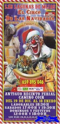 Flyer du Cirque de Noël (Las Lagunas de Mijas El Circo de Las Navidades)-2014/2015 (n°1100)
