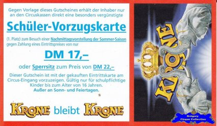 Flyer du Circus Krone (n°1089)