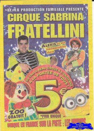 Flyer du Cirque Fratellini (Sabrina)-2015 (n°1104)