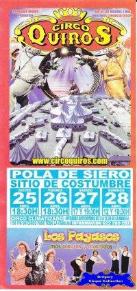 Flyer du Circo Quiros-2013 (n°1110)