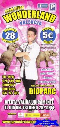 Flyer du Gran Circo Wonderland-2014/2015 (n°1099)