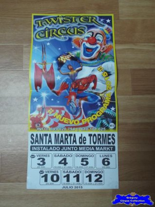 Affiche magasin du Twister Circus-2015 (n°553)