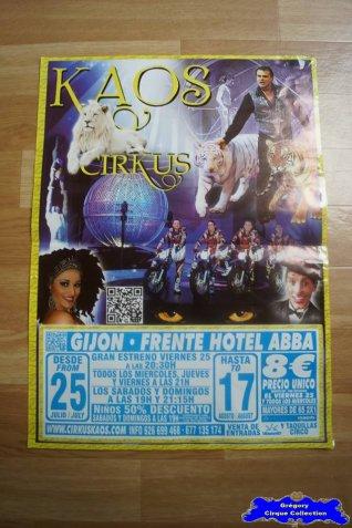 Affiche magasin du Cirkus Kaos-2014 (n°541)
