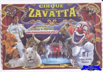 Flyer du Cirque Zavatta (Nicolas)-2015 (n°1083)