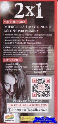 Flyer du Circo de Los Horrores-2013 (n°1118)