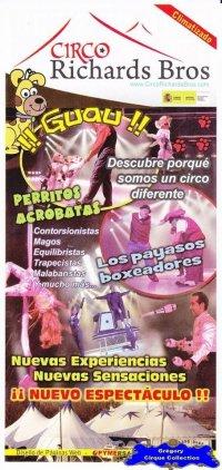 Flyer du Cirque Richards Bros (Circo Richards Bros)-2011 (n°1127)