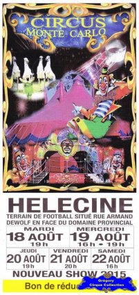 Flyer du Circus Monte Carlo-2015 (n°1163)