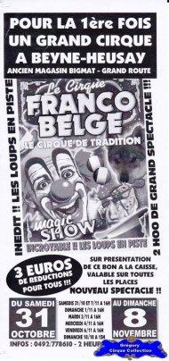 Flyer du Cirque Franco Belge-2015 (n°1197)