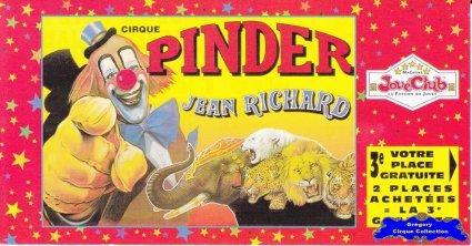 Flyer du Cirque Pinder-1997 (n°1249)