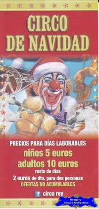 Flyer du Cirque de Noël (Circo de Navidad)-2012/2013 (n°1119)