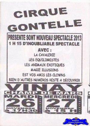 Flyer du Cirque Gontelle-2013 (n°1239)