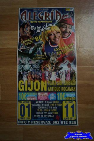 Affiche magasin du Circo Alegria-2012 (n°550)