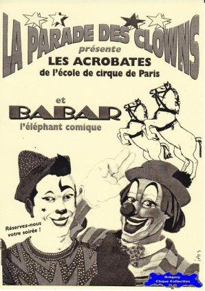Flyer de La Parade des Clowns (n°1245)