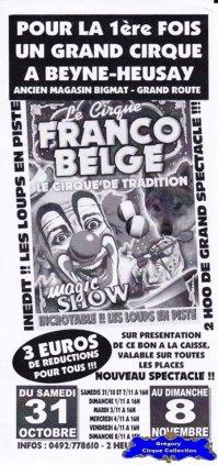 Flyer du Cirque Franco Belge-2015 (n°1196)