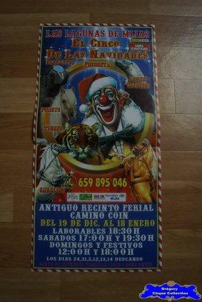 Affiche magasin du Cirque de Noël (Las Lagunas de Mijas El Circo de Las Navidades)-2014/2015 (n°545)
